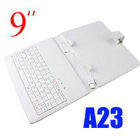 Wholesale Colorful inch leather Case with Usb Keyboard For Sainei N91 T910 Android Tablet PC MID USB For inch Allwinner A23 JP
