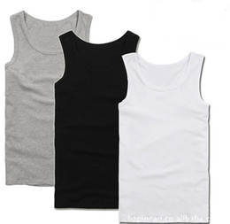 Wholesale Men s summer fashion vest sports vest with high grade bamboo fiber antibacterial breathable fabric