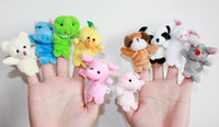 Wholesale 10 kinds of toys finger puppets Plush Animal finger doll Christmas gifts Baby dolls Finger Plush Animal Toys Animal Learning Educatio Toys