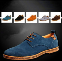 Lace-Up Men Spring and Fall NEW 2014 Suede European style genuine leather Shoes Men's oxfords california casual Loafers, sneakers for Men Flats shoes,38-48