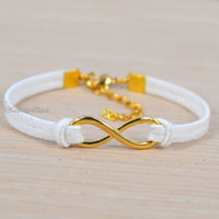 Charm Bracelets antique gold tone - Antique Glod Tone Handmade Korean Velvet Infinity Bracelets new Hot Sales Fashion Personalized Jewelry