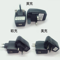 Wholesale USB Wall Charger for Electronic Cigarette EGO Charger Adapter US EU UK AU AC DC Power Wall Home Charger Adapter CE ego series Batteries