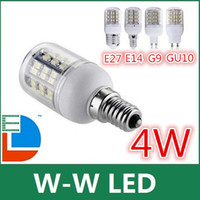 Wholesale 4W LED SMD3528 GU10 E27 Corn Led light warm cool white light bulbs Ceiling lamp