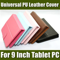 "9 inch For 9 inch Tablet PC For 9 inch Tablet PC 9'' Inch Colorful Universal PU Leather Cover Case Without Keyboard for 9"" Tablet PC MID Android Tablet PC 1PCS free shipping 09PT-1"