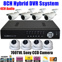 Box/Body CCK9218IA-ICG24SHEWT-VDNSFE3QC CCTV Home 8CH HD Network hybrid Super DV CCTV Home 8CH HD Network hybrid Super DVR SDVR HVR NVR 1080P HDMI 700TVL Outdoor Nightvision Sony CCD Camera Security System