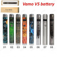 Wholesale New vision colorful Vamo V5 updated lava tube ecigarette vamo mod v5 Electronic Cigarette Battery DHL