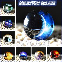 10pcs 25mm Charm galaxy The Milky Way Pattern Round Glass Dome Cabochon Flat Back Embellishments