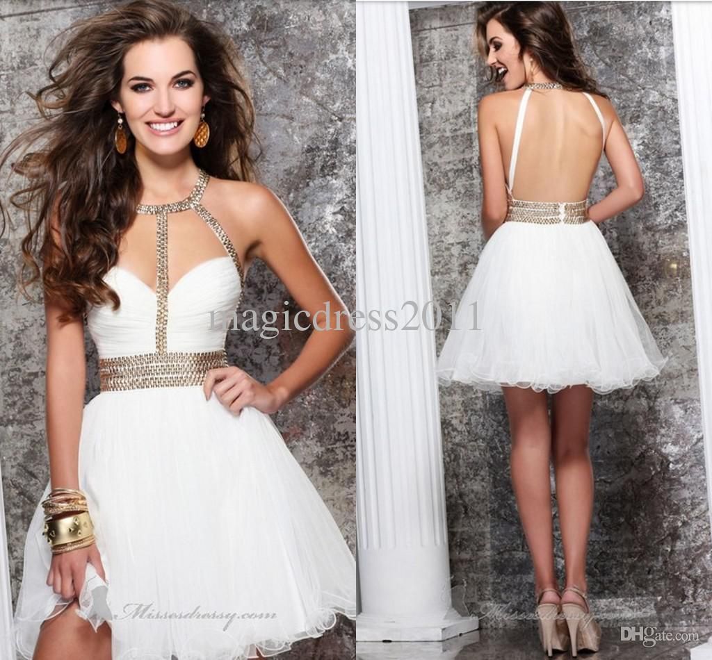 Cheap White Short Dresses