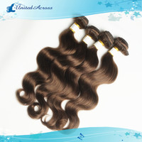 Wholesale Chocolate Brown Mocha Brazilian Virgin Hair Body Wave Color Mocha Hair Extension Human Hair Weaves Wavy