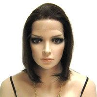 Wholesale DHL Brazilian Virgin Hair Natural Color Swiss Full Lace Wig Density