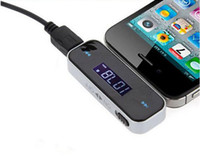 Wholesale OEM Universal For iPhone Samsung HTC In Car Wireless Handsfree FM Transmitter MM Jack