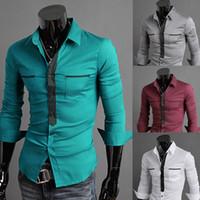 Cheap 2014 spring Korean version fashion Small fresh all-match slim Oxford silk cloth material male dudalina shirt men free shopping