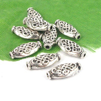 Spacers Jewelry Findings Yes Free Shipping Wholesale Lots 25pcs Tibetan silver Tone Alloy Chinese knot Spacer Beads Jewelry Finding TS9150