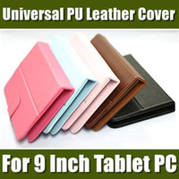 "9 inch For 9 inch Tablet PC For 9 inch Tablet PC 9'' Inch Colorful Universal PU Leather Cover Case Without Keyboard for 9"" Tablet PC MID Android Tablet PC 20PCS free shipping 09PT-1"