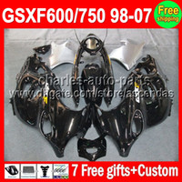 7gifts For SUZUKI KATANA GSXF600 750 98- 07 ALL Black GSXF 60...