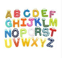 Wholesale Wooden cartoon baby early education alphabet Wooden Colorful Cartoon Fridge Magnets Refrigerator sticker cute Magnetic sticker