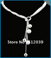 Chains Fashion Necklaces 925 Silver Plated Small Ball Chain Fashion Necklace Small O Hanging Ball Necklace Silver Necklace Fashion Jewelry
