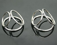 Steel   Male Penis Ring Cock Rings Chastity Ring Device Metal Alloy Perfect Chrome Penis Restrain Testicle Bondage Gear Dong Rings Cheap Price New