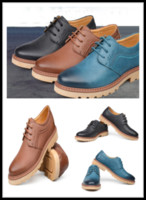 Lace-Up Men Spring and Fall 2014 New Arrival Men Shoes Genuine Leather Business Casual Lace Up Low Heel Oxford Split Leather Soles 3Colors JJ03-14