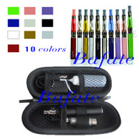 Electronic Cigarette Set Series  Wholesale - CE4 eGo Starter Kit Electronic Cigarette aE Cig Zipper Case package Single Kit E Cigarette 650mah 900mah 1100mah