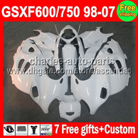 7gifts For ALL White SUZUKI KATANA GSXF600 750 98- 07 98 99 0...