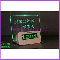 led message board - USB LED Fluorescent Message Board Digital Alarm Clock Calendar With Port USB LED message boards for gift