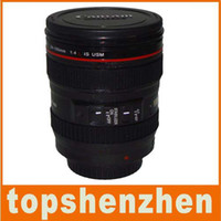 Wholesale plastic sport travel Coffee camera lens mug lens cup generation with Shot hood lid ml g caniam
