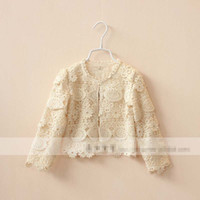 Cheap Jackets children lace outwear Best Girl Spring / Autumn girl princess outwear