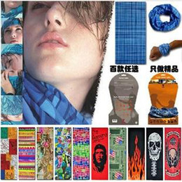 Wholesale EMS Fedex Bandanas Headwear Magic Seamless Multi Functional Kerchief Outdoor Head scarf UV Protection