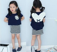 Wholesale Children s Outfits fashion style suits baby girls lovely cute summer angel suits