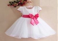 Wholesale Baby Girl Sequin Party Dress Children Red Christmas Dress Flower Girl Dress For Wedding cheap