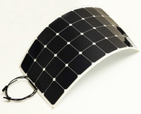 Wholesale 100w High efficiency sunpower cells ultra thin mm flexible solar panel for v battery
