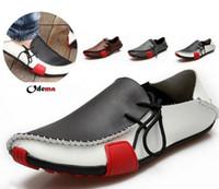 Wholesale 2014 Popular Mens Men Shoes Flat Genuine Leather Driving Moccasins Slip On men s shoe Men footwear casual shoe Size6