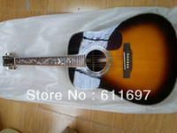 Wholesale 2014 new arrival factory MT D45 folk acoustic guitar Deuxe MD D45s acoustic guitar with pearl fret inlays