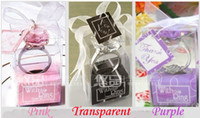 "Cheap ""With This Ring"" Engagement Ring Key Chain Novelty Giant Diamond Keychain Jewelry Gift Box 150pcs"