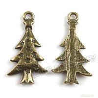 Wholesale X Bronze XMAS Tree Charms Zinc Alloy Pendant Jewelry Finding mm