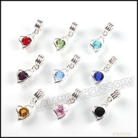 Wholesale 15pcs Assorted Dangle Pendants Charms Bead Rhinestone CZ Diamond Pendants Silver Plated Zircon Pendants Fit Jewelry