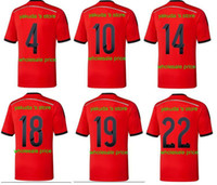 Thai Quality Customized 2014 Away Mexico Red SoccerJerseys ,...