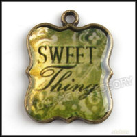 Wholesale 60pcs Enamel Photo Frame Charms Pendants Bronze Vintage Pendant Charms For Charms Bracelet x18x2mm