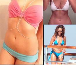 Wholesale OUTLETS Rihanna body chain bikini necklace body jewelry circle the body chain fashion jewelry sexy waist chain cheap jewelry WT