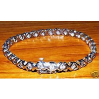 Wholesale 10K White Gold ct Diamond Stones Bracelet