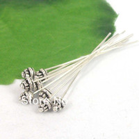 Pins & Needles hat pins - Tibetan Silver Tone Alloy D Hat Head Pins TS9076