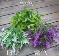 Wholesale 20Pcs cm quot Length Three Colors Available Artificial Plants Simulation Malt Grass Branches Wedding Home Christmas Decorations