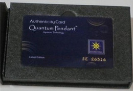 Wholesale Scalar Energy Quantum Science Healthy Pendant With Product Registration Cards
