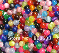 Wholesale Mixed Color mm Cat Eye Beads Glass Round Jewelry Finding Assortment DIY