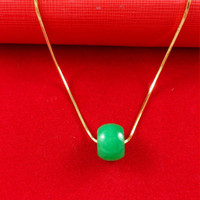 African africa pendant gold - New Arrivel K Real Yellow Gold Plated Necklace Africa Jewelry Women Men Jade Pendant Snake Necklace A017