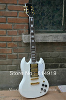 Solid Body 6 Strings Mahogany Wholesale mahogany body Alpine white SG&400 3 PICKUPS Electric Guitar