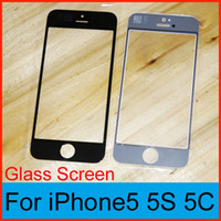 For Apple iPhone Touch Screen  black white for iPhone 5 5c 5s Repair Replacement Front touch Screen Outer Glass Lens Repair Part Digitizer Cover Glass panel free shipping