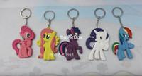 Wholesale Cute My little Pony Soft PVC Figure Toy Key Chain Key Ring