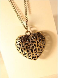 Wholesale Top Selling fashion Antique Bronze Heart Pendant Necklace For Women Chain Necklace